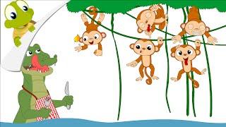 Download Five little monkeys nursery rhyme Video