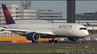 Download Delta Airbus A350-900 N504DN Takeoff from NRT 16R Video
