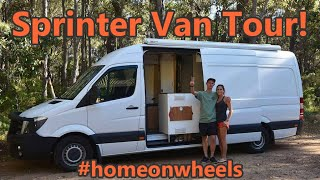 Download Sprinter Van Conversion - DIY Stealth Camper Tour Video