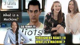 Download Foreigners React to What is a machine? - Funny scene - 3 Idiots - Aamir Khan Video