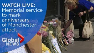 Download WATCH LIVE: Prince Williams attends memorial marking Manchester attack anniversary Video