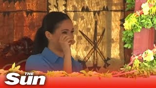 Download Pregnant Meghan Markle cries tears of joy in Tonga Video