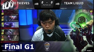Download 100 Thieves vs Team Liquid | Game 1 Grand Final S8 NA LCS Spring 2018 | 100 vs TL G1 Video