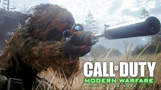 Download Call of Duty 4 Modern Warfare Remastered: All Ghillied Up Sniper Mission Gameplay Veteran Video