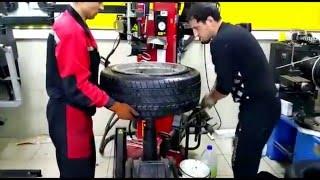 Download Монтаж бронированного колеса, стоимостью 250000 рублей. Шиномонтаж в Адлере. Video