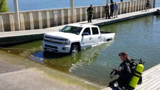Download Brand new Silverado in water at, ramp total loss Video