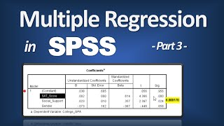 Download Multiple Regression in SPSS - R Square; P-Value; ANOVA F; Beta (Part 3 of 3) Video