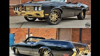 Download Cam Newton's Oldsmobile 442 on 24kt Gold 24″ Forgiato Wheels by Monster Customs Video