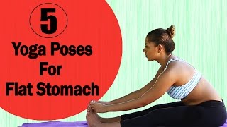 Download 5 Simple Yoga Poses For A Flat Stomach - Yoga Exercises to Reduce Belly Fat Quickly & Easily Video
