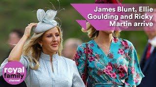 Download James Blunt, Ellie Goulding and Ricky Martin arrive at royal wedding Video