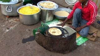 Download Indian Street Food in Old Delhi - Gali Paranthe Wali, Naan Bread and Spice Market Video