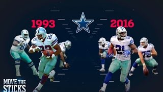 Download Ezekiel Elliott or Emmitt Smith: Whose Cowboys O-Line was Better? | NFL | Move the Sticks Video