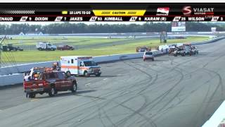 Download Indycar 2015. Pocono 500. Wilson and Karam Huge Crash Video
