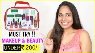 Download Under Rs 200/- Budget - 25 MUST TRY Affordable Makeup & Beauty Products | ShrutiArjunAnand Video