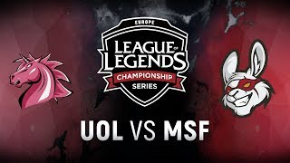 Download UOL vs. MSF - Week 6 Day 1 | EU LCS Summer Split | Unicorns of Love vs. Misfits Gaming (2018) Video
