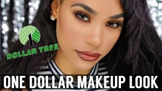 Download ONE DOLLAR MAKEUP SLAY | DOLLAR TREE MAKEUP CHALLENGE Video