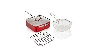 Download Simply Ming 5qt Square Jumbo Pan w/Rack and Fry Basket Video