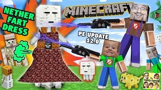 Download Search 4 Nether Fart Dress! Minecraft PE Surprise 4 Mike (FGTEEV Dad & Kids Lets Play 0.12 Update) Video