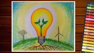 Download SAVE ENERGY DRAWING||SAVE ELECTRICITY ||URJA BACHAO DRAWING Video