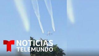Download Avión arroja lluvia de combustible sobre varias escuelas en California | Noticias Telemundo Video