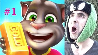 Download Talking Tom Gold Run! Unlocking Angela and New High Score! Video