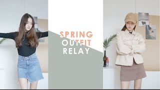 Download Spring Outfit Relay \\ 봄 릴레이 룩북 ღ leean Video
