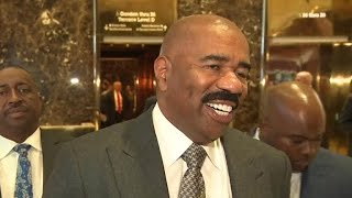 Download Steve Harvey on his meeting with Donald Trump Video