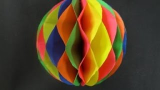 Download Paper Crafts: How to make a Paper Honeycomb Ball Video