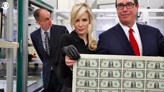 Download Treasury Secretary Mnuchin and his wife mocked for posing with a sheet of money Video