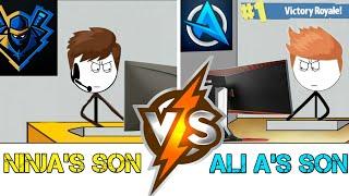 Download Ninja's son VS Ali A's son in the year 2050. Video