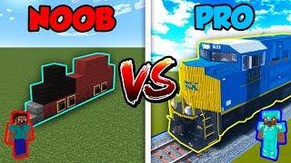 Download Minecraft NOOB vs. PRO: TRAIN in Minecraft! Video