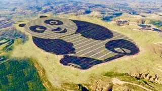 Download Giant Panda Shaped Solar Farm in China - Cute Renewable Energy Video
