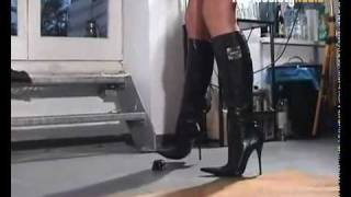 Download Angel crushing toys wearing Icone stiletto boots Video