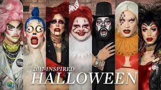 Download Drag Queens Create 2017-Inspired Halloween Looks | Halloween Transformation Video
