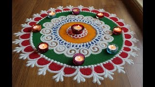 Download Laxmi Pujan special sanksar Bharti rangoli designs with colours for Diwali by Shital Daga - 2 of 3 Video