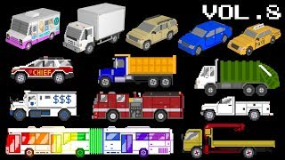 Download Vehicles Collection Volume 8 - Trucks, Buses, 3D Vehicles, Street Vehicles - The Kids' Picture Show Video