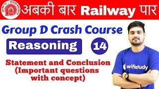 Download 10:00 AM - Group D Crash Course   Reasoning by Hitesh Sir   Day #14   Statement and Conclusion Video