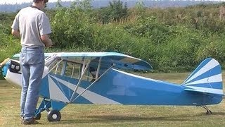 Download Epic RC Plane giant scale Electric 50% Scale Clip Wing Cub HUGE Video