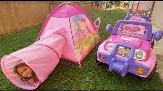 Download Tünel çadırı bahçeye kurduk.Barbie mylittle pony ve elif piknik yaptı, eğlenceli çocuk videosu Video
