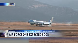 Download WATCH: Air Force One lands in Missoula Video