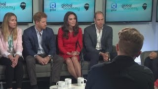 Download William, Kate and Harry open The Global Academy for Heads Together charity Video