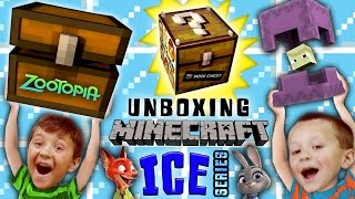 Download Stolen MINECRAFT Minechest from Zootopia! + Ice Series Mini-Figure Blind Bags Fun w/ FGTEEV Boys Video