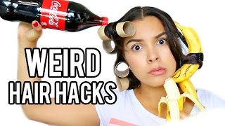 Download 10 WEIRD Hair Hacks that Actually Work! Video