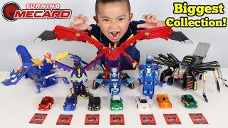 Download BIGGEST Turning Mecard Toys Collection Auto Transforming Cars Ckn Toys Video