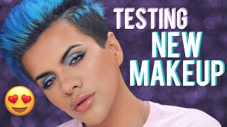 Download Testing NEW Bright & Colorful Makeup First Impressions | Gabriel Zamora Video