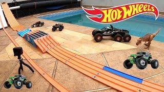 Download Hot Wheels Monster Jam Pista Capote na Elevação - Carrinhos de Brinquedos #81 Video
