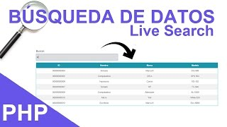 Download Búsqueda de Datos en Tiempo Real (Live Search) con PHP + MySQL + JQuery Video