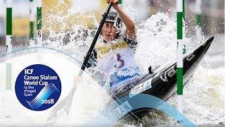 Download 2018 ICF Canoe Slalom World Cup 5 La Seu / Finals – C1w, K1m Video