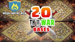 Download 20 SUPER Th11 WAR BASES! THE BEST OF CLASH OF CLANS | NEW 2017! MEGA EMPIRE ASIA CLAN. Video
