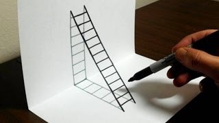 Download How to Draw a 3D Ladder - Trick Art For Kids Video